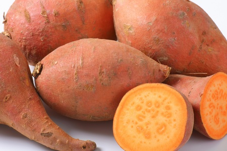 35532294 - sweet potatoes with orange flesh (rich source of vitamin a)